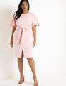 Tie Waist Dress Blush