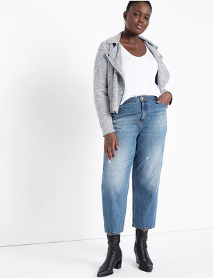 Soft Knit Moto Jacket