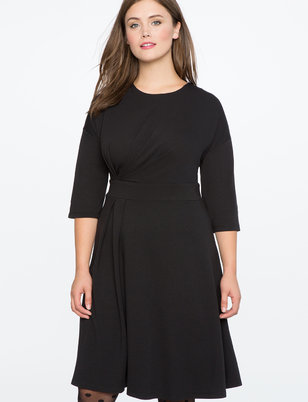 Asymmetrical Pleated Dress