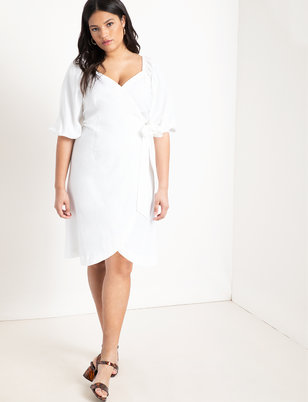 dd378768dbe7a Optional Off-the-Shoulder Wrap Dress ...