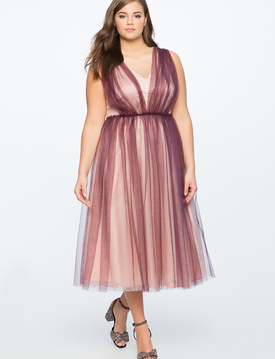 Tulle Ball Gown Womens Plus Size Dresses Eloquii