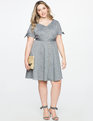 Button Down Fit and Flare Dress GREY