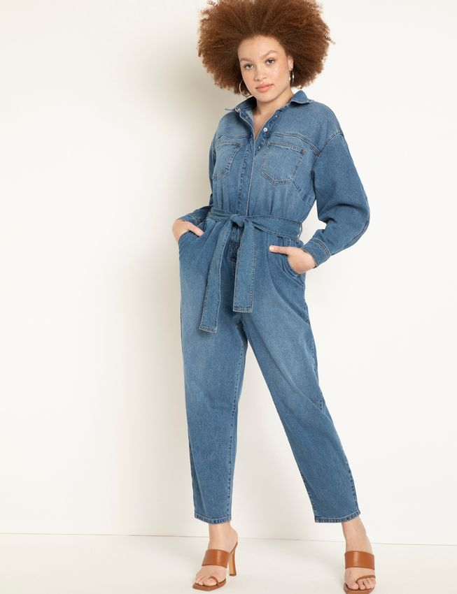 Full Sleeved Denim Jumpsuit