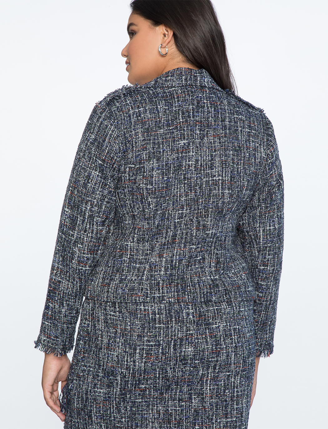Fringed Tweed Moto Jacket