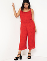Pleated Crop Jumpsuit Valencia Dot