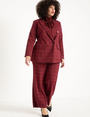 Double Breasted Windowpane Blazer
