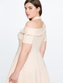 One Shoulder Fit and Flare Dress PALE DOGWOOD