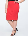 Stretch Work Pencil Skirt Goji Berry