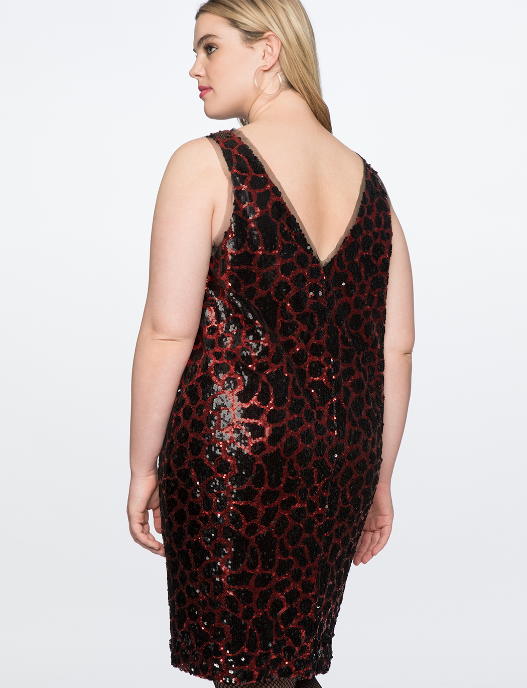 Sequin Leopard Slip Dress