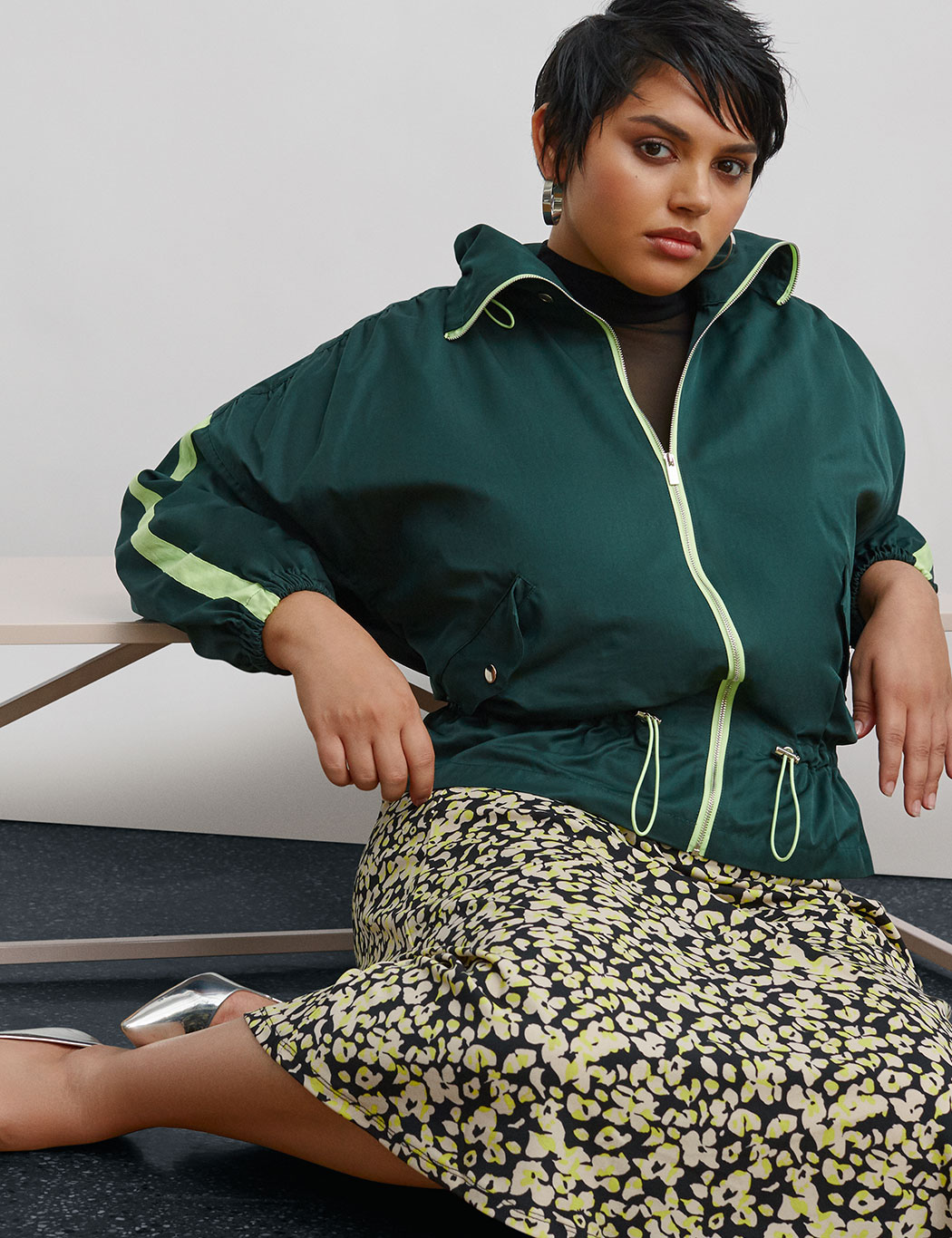 Track Jacket with Peplum