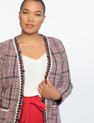 Plaid Tweed Jacket