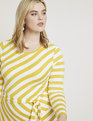 Blocked Stripe Dress Macaw Yellow and Soft White Stripe