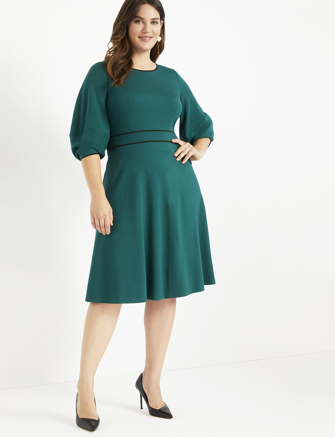 Lantern Sleeve Dress