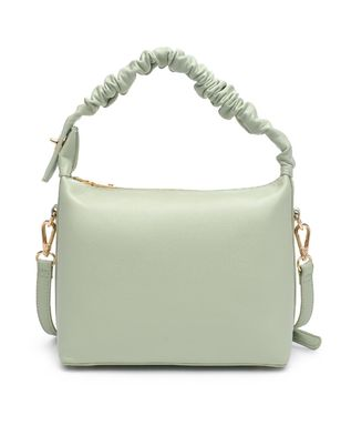 Ruched Handle Satchel Bag - Extended Length