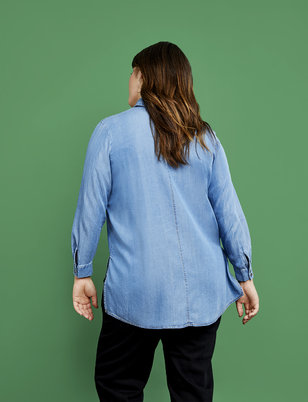 R29 x ELOQUII Relaxed Button Down Shirt