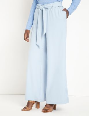 Wide Leg Pant With Tie