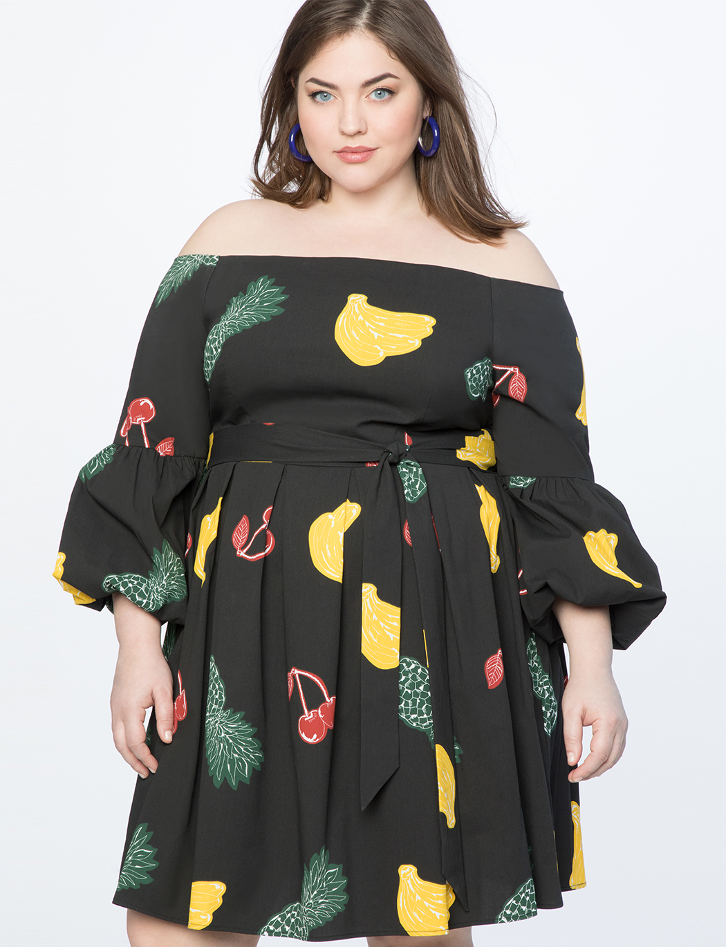 Off the Shoulder Balloon Sleeve Dress