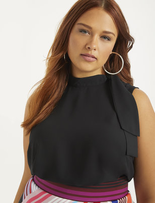 Tie Neck Sleeveless Top