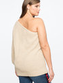 One Shoulder Sweater Topaz Heather