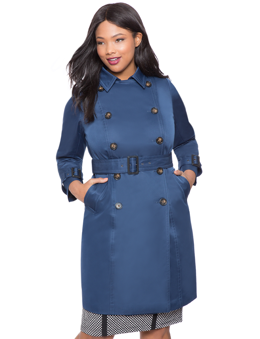 new product large assortment hot-seeling original Belted Trench Coat | Women's Plus Size Coats + Jackets ...