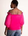 Off-the-Shoulder Top Bright Rose