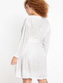 Belted Sequin Wrap Dress True White