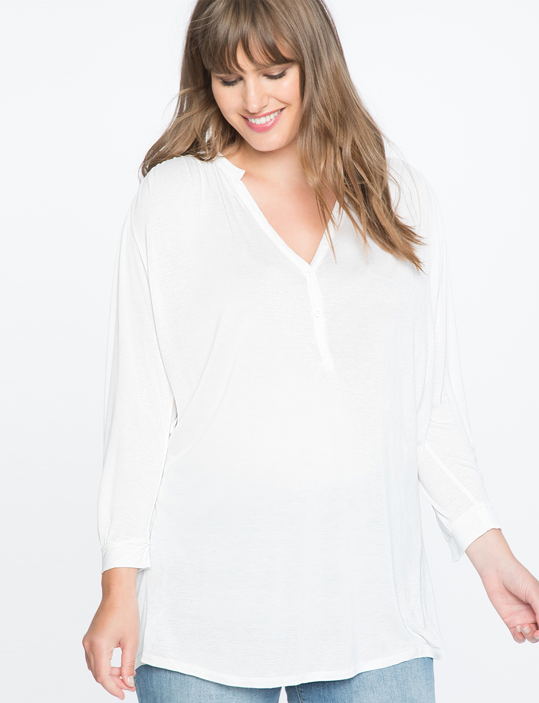 Peasant Sleeve Easy Tee