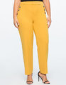 Button Detail Straight Leg Pant Goldenrod