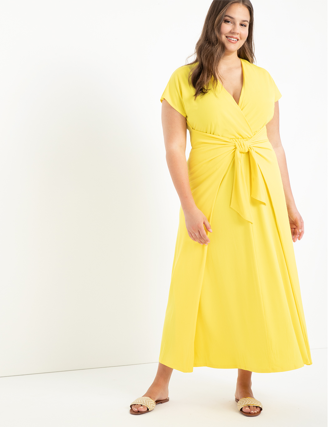 Easy Maxi Dress With Wrap Tie Skirt 14