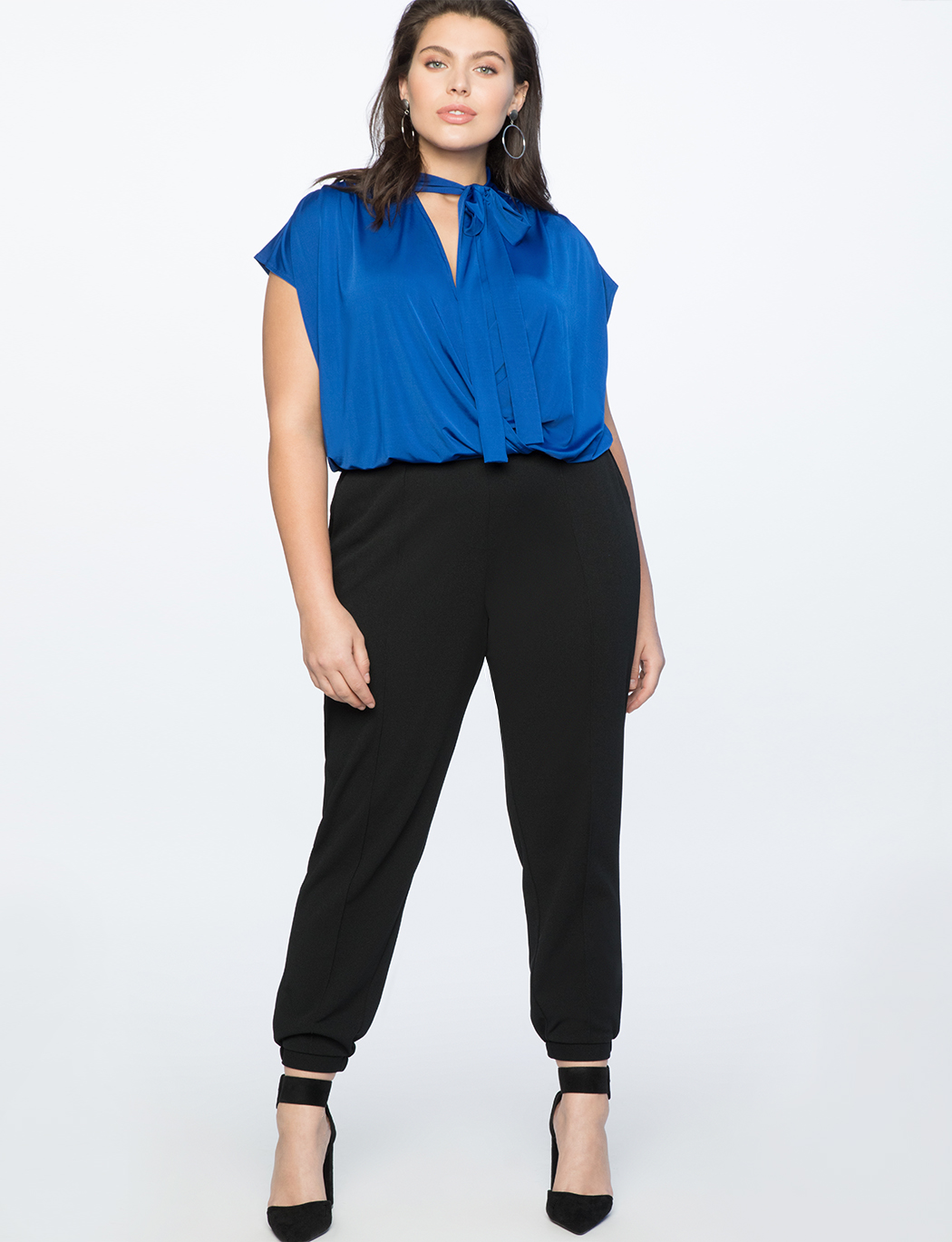Tie Neck Wrap Top