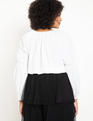 Balloon Sleeve Top True White