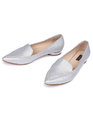 Grace Pointed Toe Flat Silver