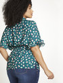 Printed Top with Ruffle Sleeve Spring into Action