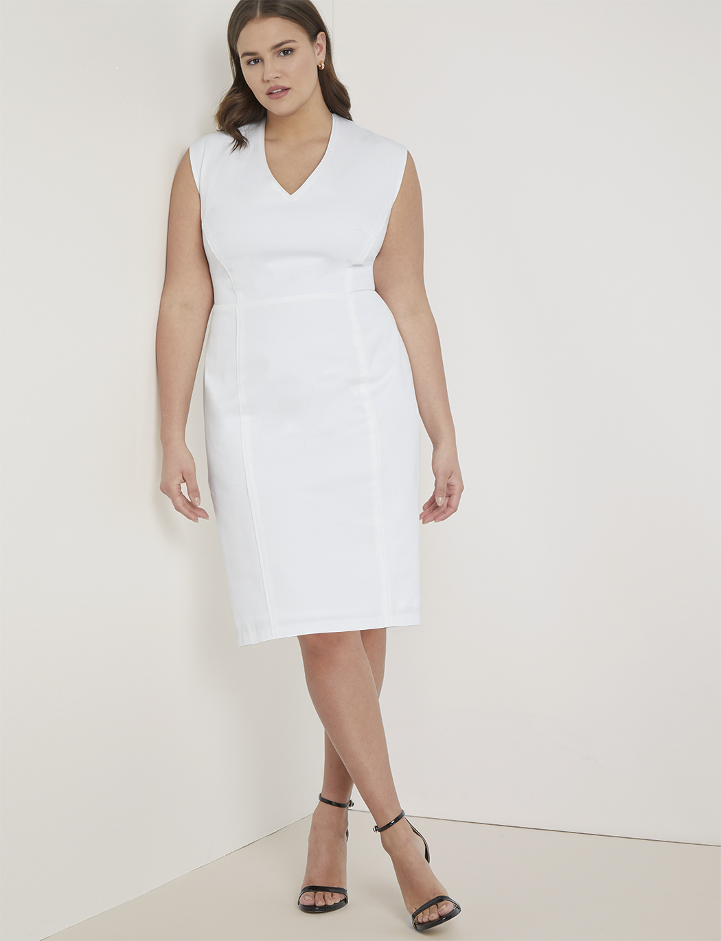 Premier Work Dress with Piping | Women\'s Plus Size Dresses | ELOQUII