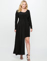 Asymmetrical Hem Gown BLACK