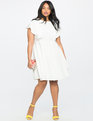 Tie Back Flutter Dress TRUE WHITE
