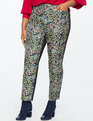 Kady Fit Floral Brocade Pant Black Ground Floral