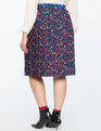 Mixed Floral Pleated Midi Skirt 80s Floral + Driving Meadows Print