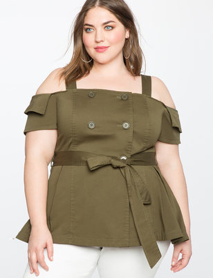 Off The Shoulder Trench Top