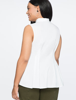 Sleeveless Pleated Shirt