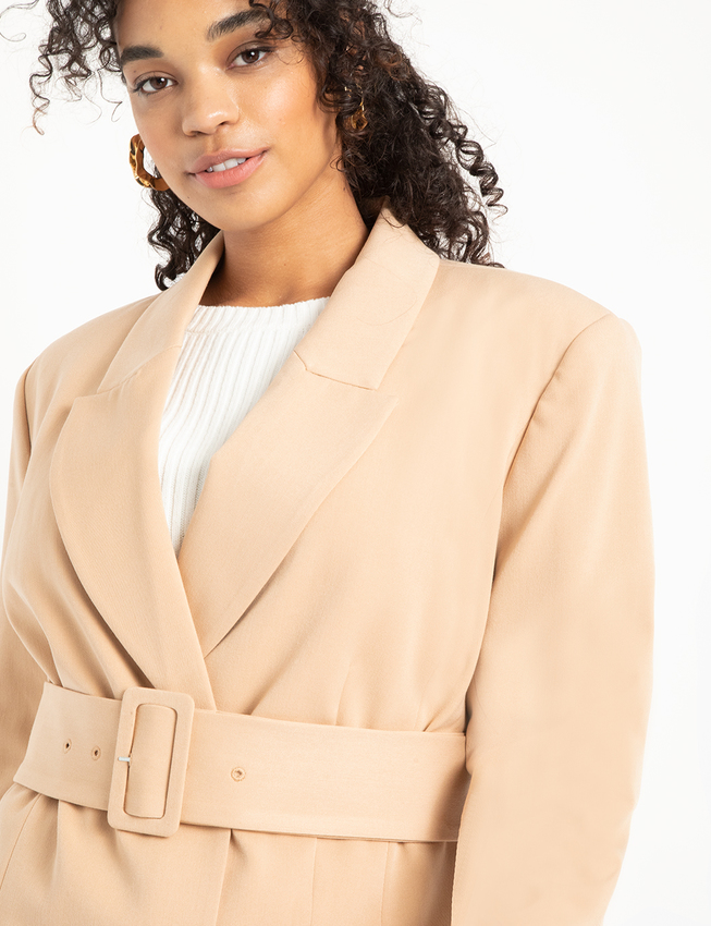 Double Breasted Blazer with Belt