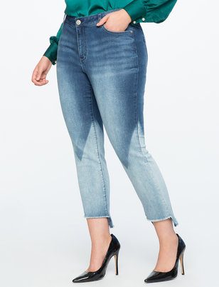 Bleach Blocked Skinny Jeans