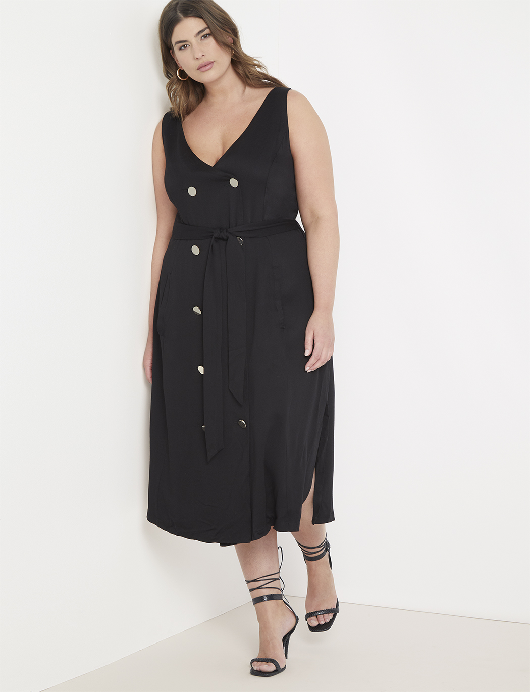 Button Front Dress | Women\'s Plus Size Dresses | ELOQUII