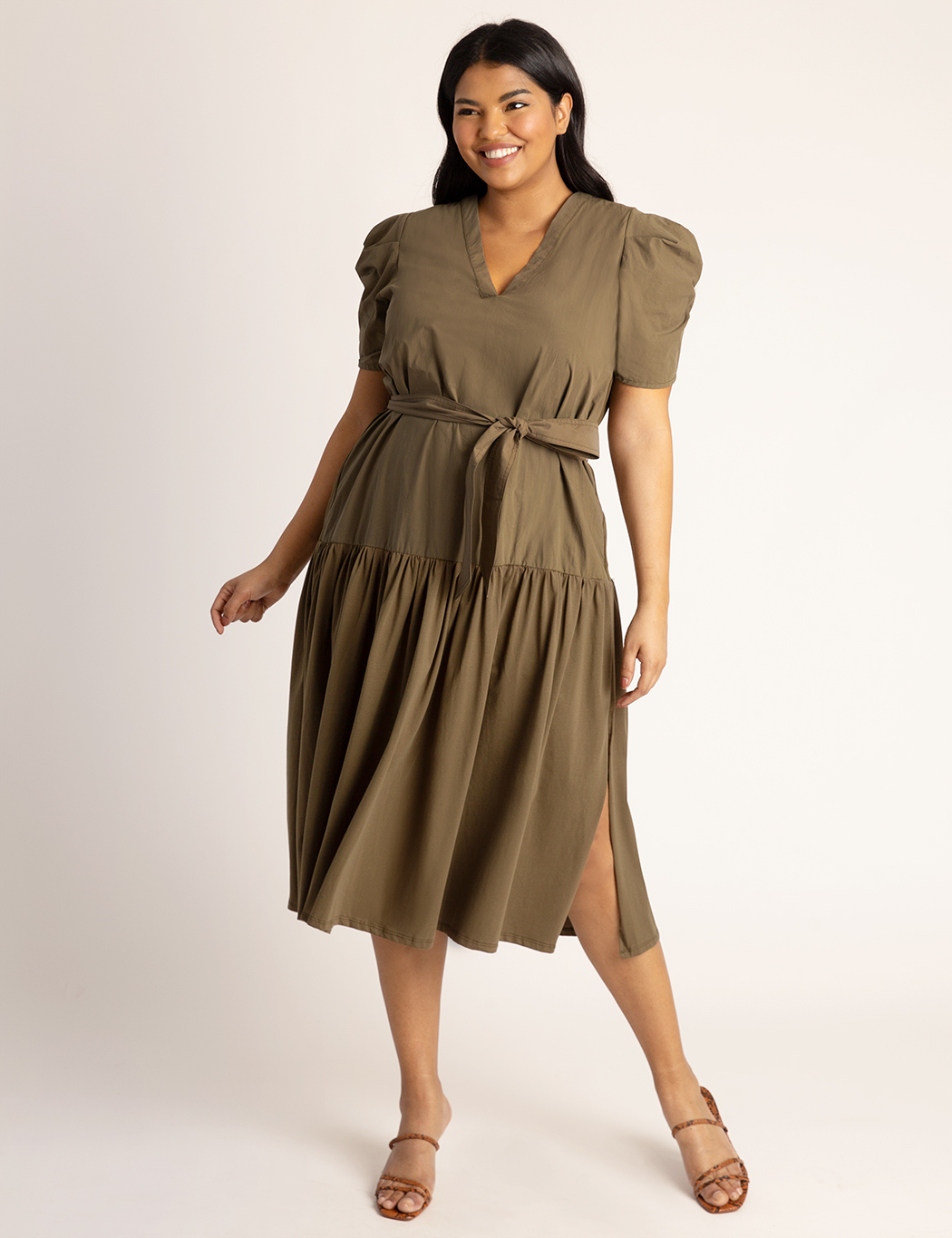 Puff Sleeve Midi Dress 4