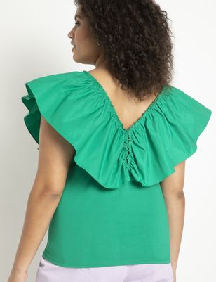 Exaggerated Ruffle Top