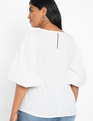 Puff Sleeve Top Soft White