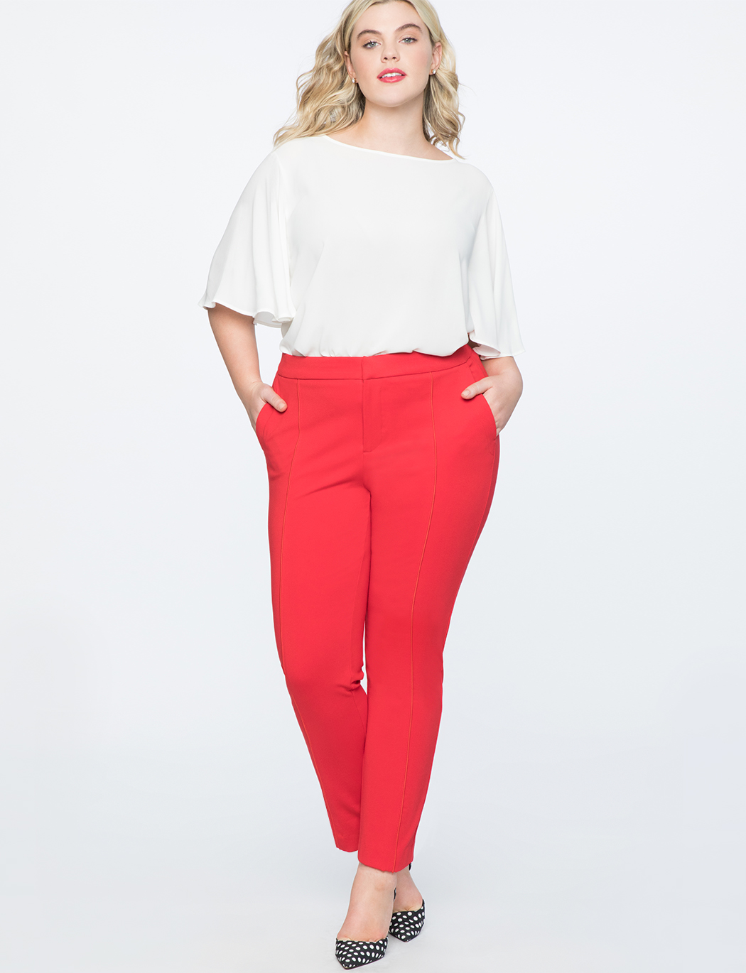 9-to-5 Stretch Work Pant | Women\'s Plus Size Pants | ELOQUII