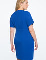 V Neck Sheath Dress COBALT