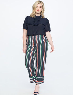 Opposing Stripe Crop Pant