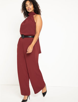 Halter Neck Wide Leg Jumpsuit